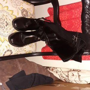 Calf high boots